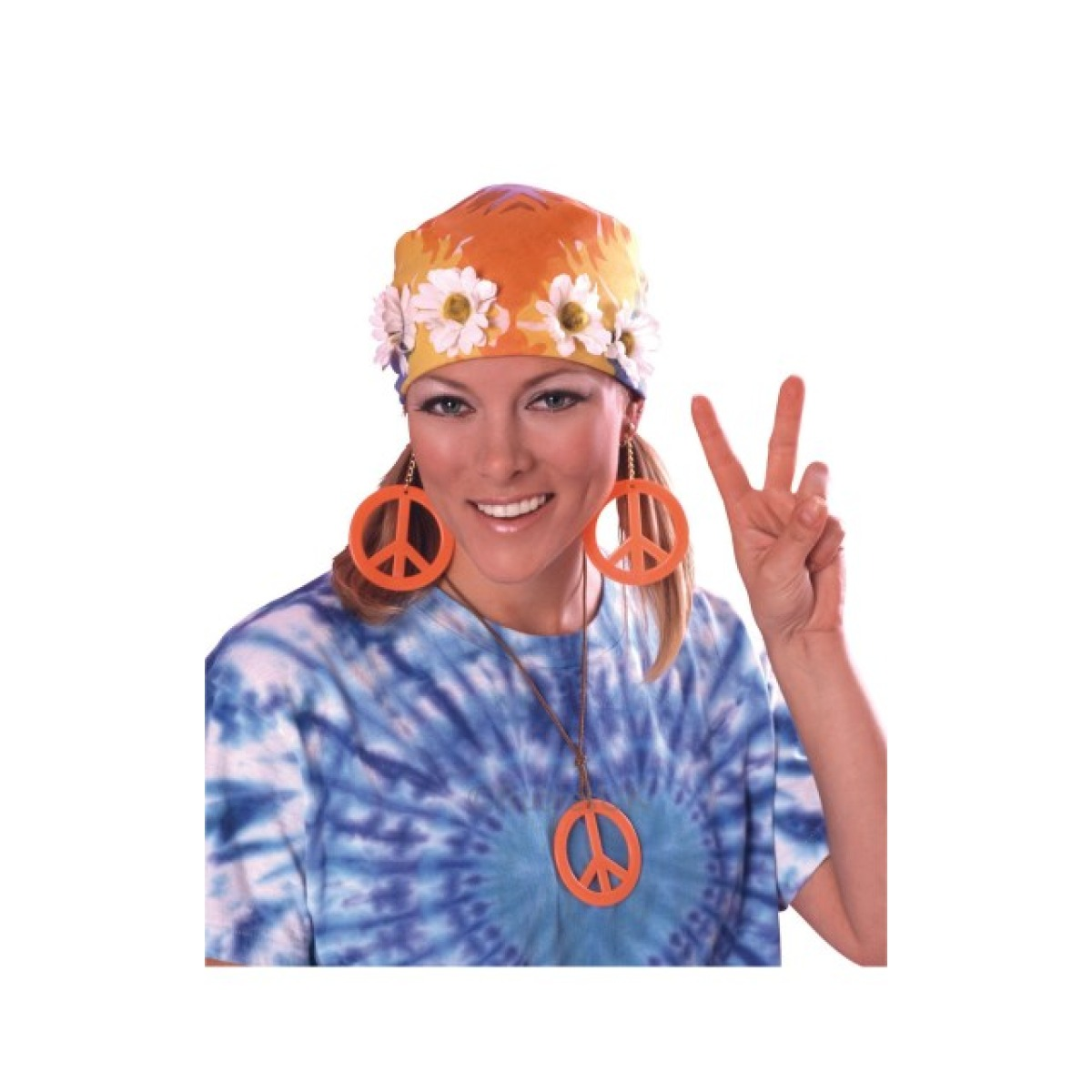 70s_peace_sign_necklace_&_Earrings