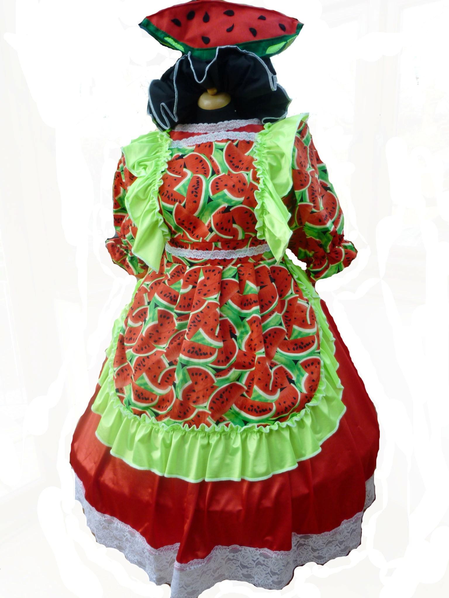 Watermelon Helen Panto Dame Costume