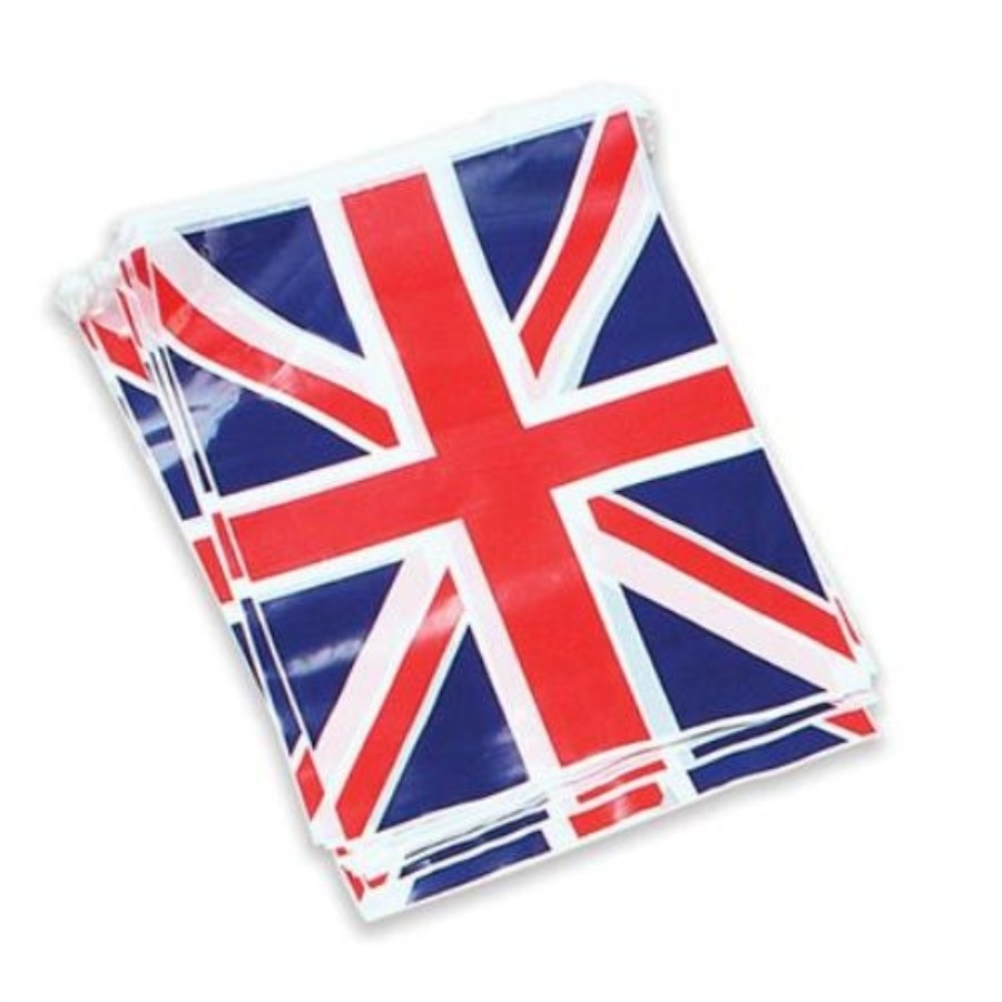 British Union Jack Bunting Flag 7m, 25 Flags