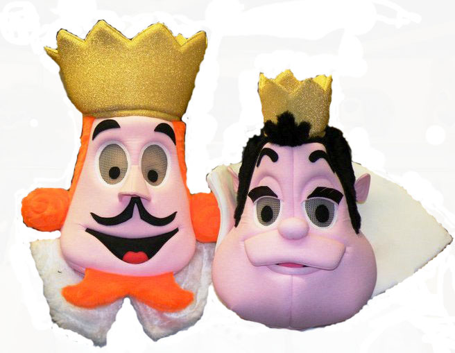 King_and_Queen_of_Hearts_Mascot_Heads