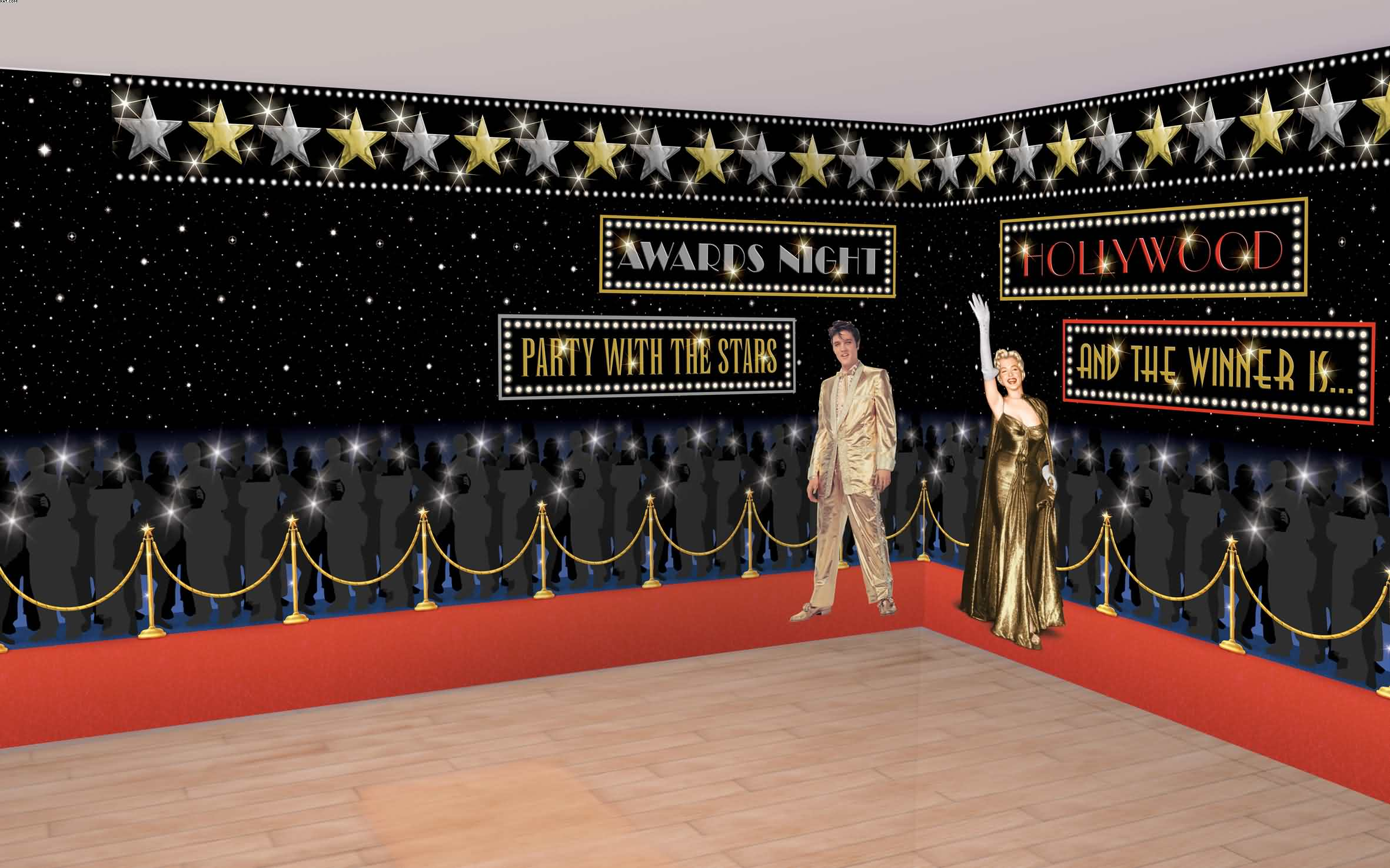 Hollywood Red Carpet Room Roll
