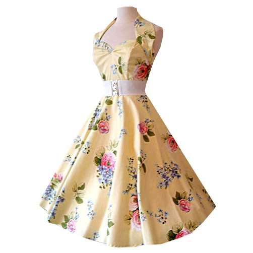 Halterneck_Chantilly_Yellow_1950s_Dress_Goodwood_Revival_Outfit