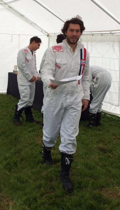 053347c7f5 1960s Vintage Racing Overalls