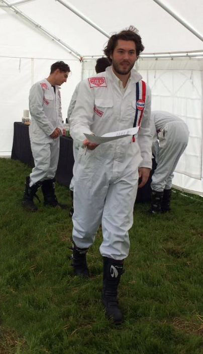 vintage racing overalls