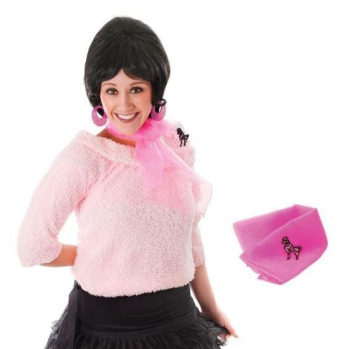 50s_pink_neck_scarf