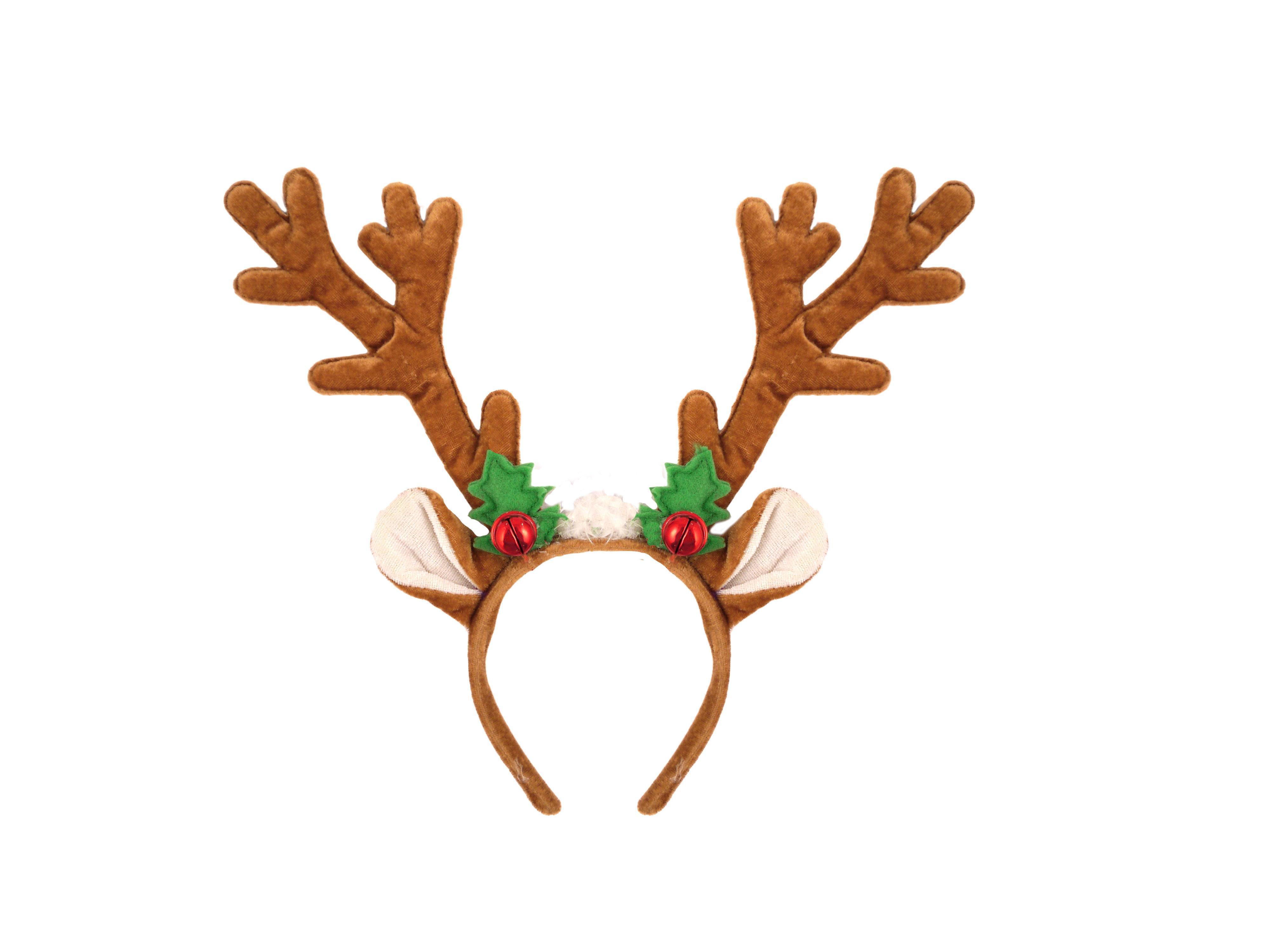 Reindeer Antlers Headband with Bells