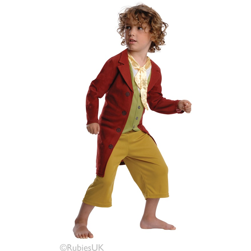 Kids Hobbit Costume Bilbo Baggins Fancy Dress Lord of the Rings