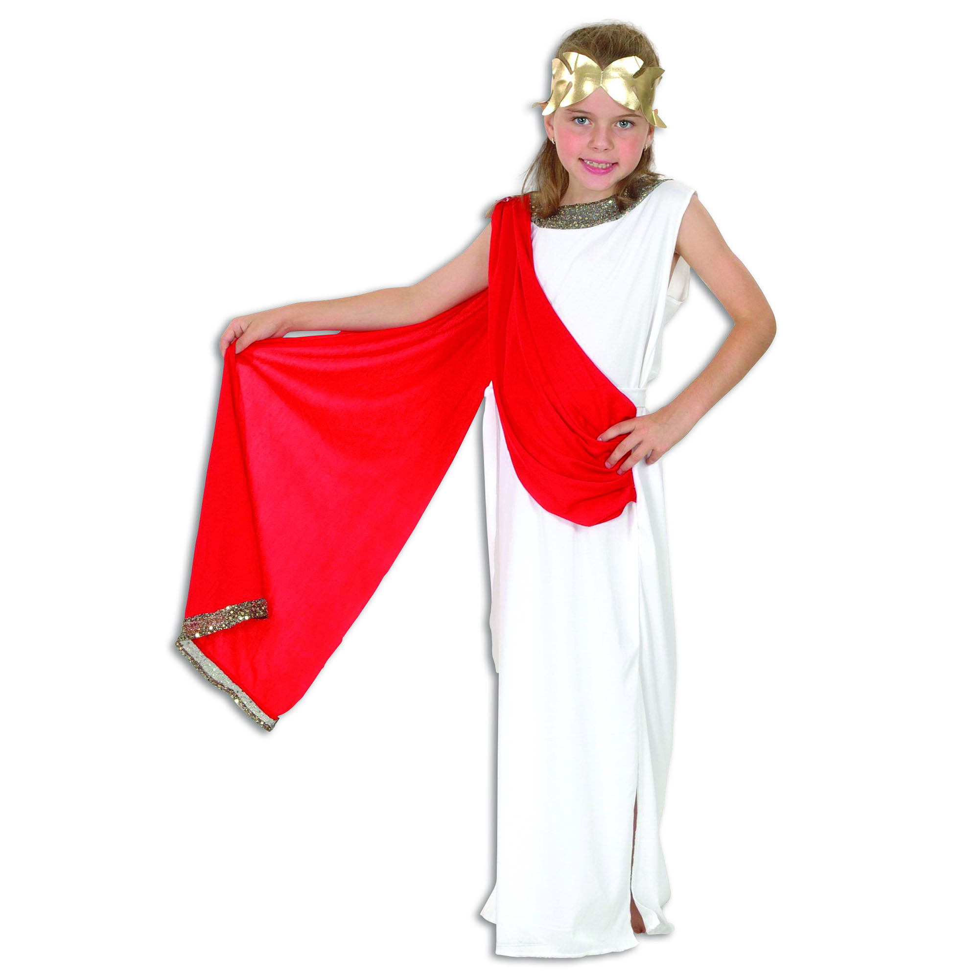 Girls Roman Costume, Goddess Childs Fancy Dress