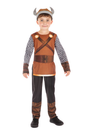 Boys Viking Costume Kids Warrior Fancy Dress Historical