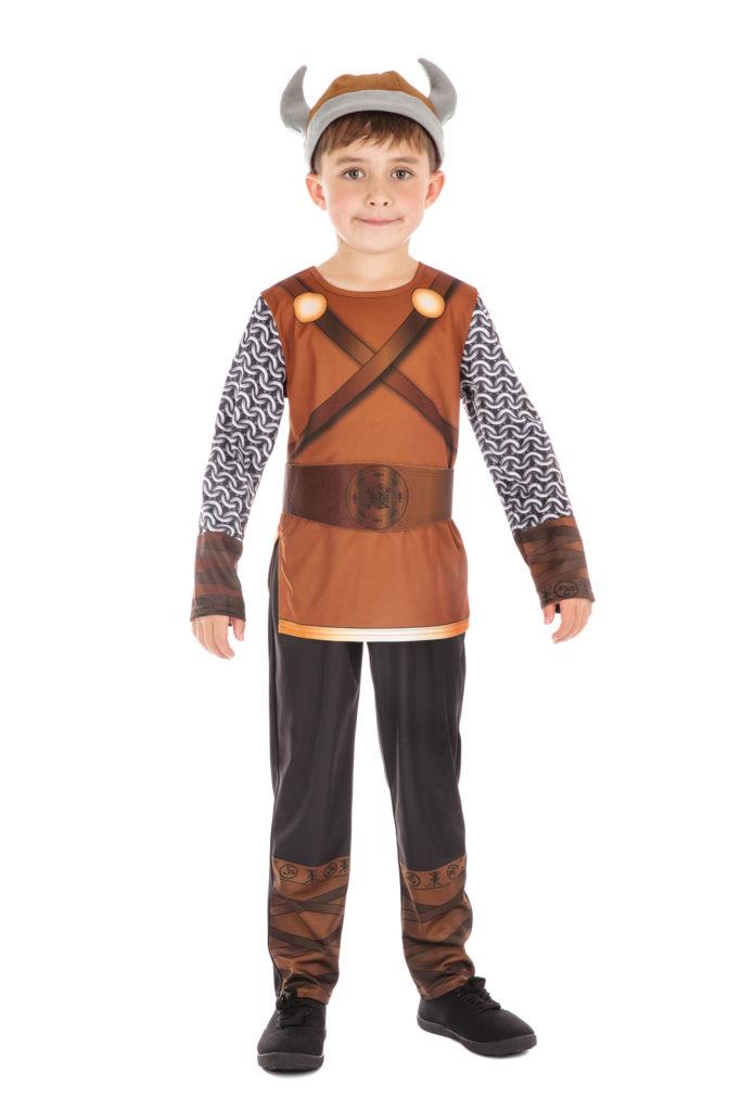 Boys Viking Costume Kids Warrior Fancy Dress Historical