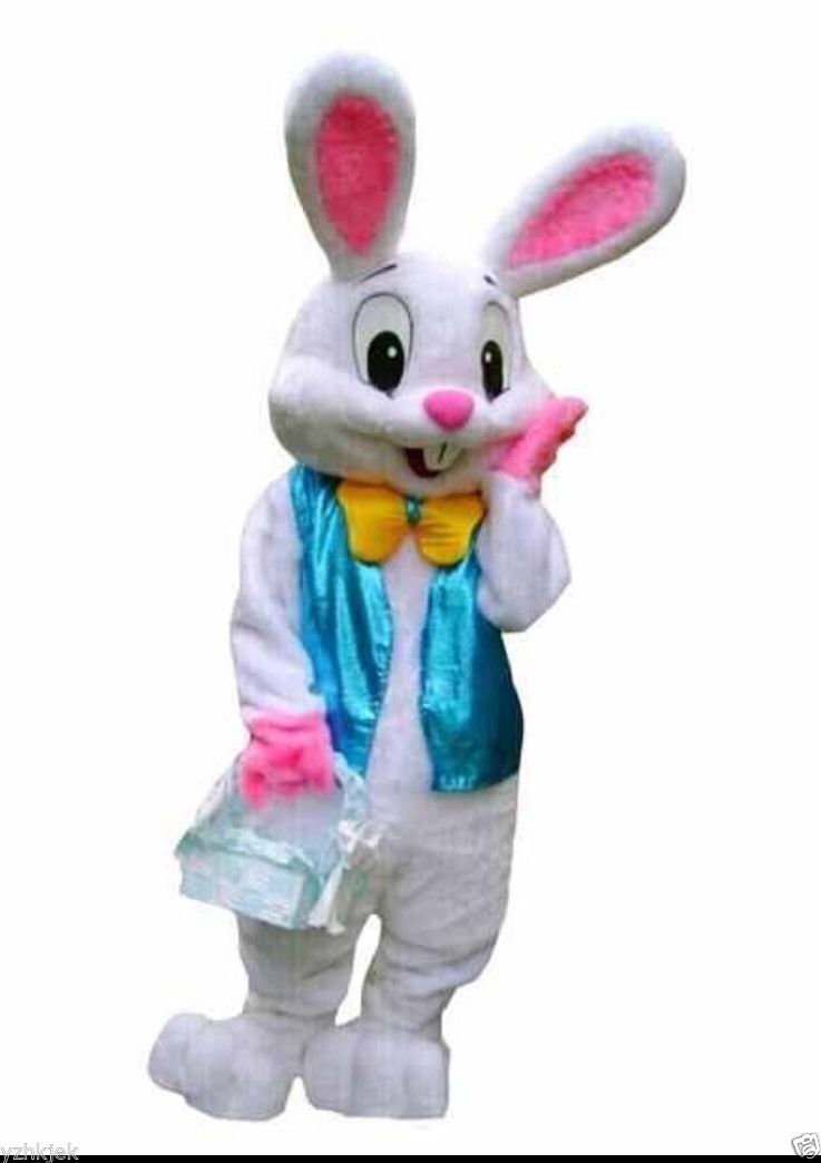 Easter Bunny Mascot Costume Easter Rabbit Fancy Dress