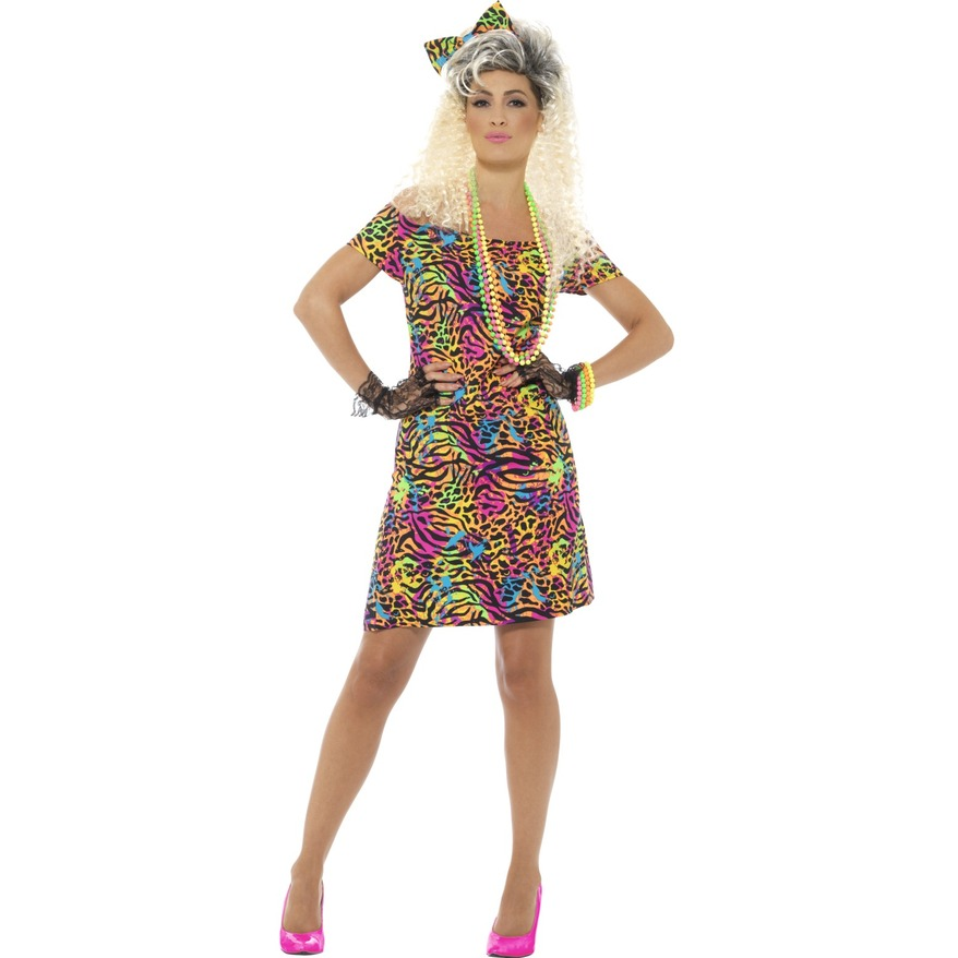 Party Animal Print 80s Dress