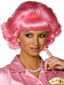 Grease Wig Frenchy, Pink Short Curly Wig