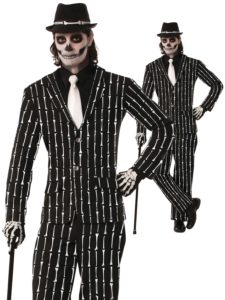 Day of the Dead Suit Pinstripe Bone Suit
