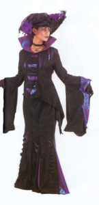 Black and Purple Gothic Ladies Costume