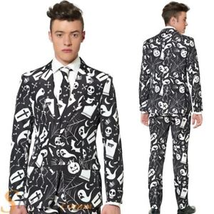 Black Halloween Suit Ghosts ghould and Spiderwebs Suitmeister