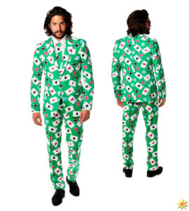 Poker Face Suit Casino Gambler Outfit