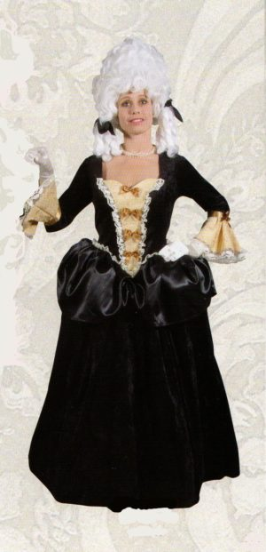 Black and Gold Georgian Gown
