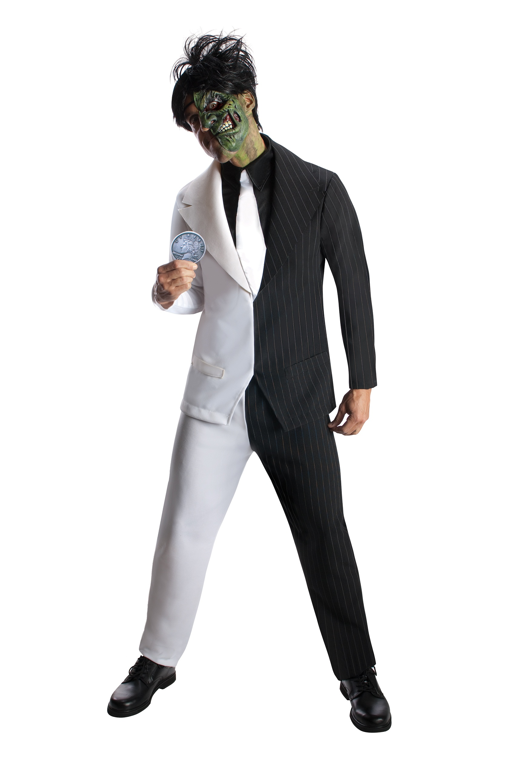 Two Face Costume Adult Batman Super Villain Fancy Dress