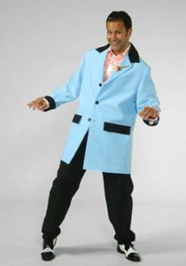 Pale Blue Teddy Boy Costume Grease Fancy Dress XXL