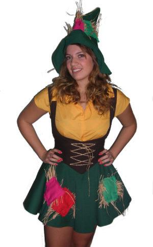 Straw Girl Scarecrow Costume Wizard of Oz