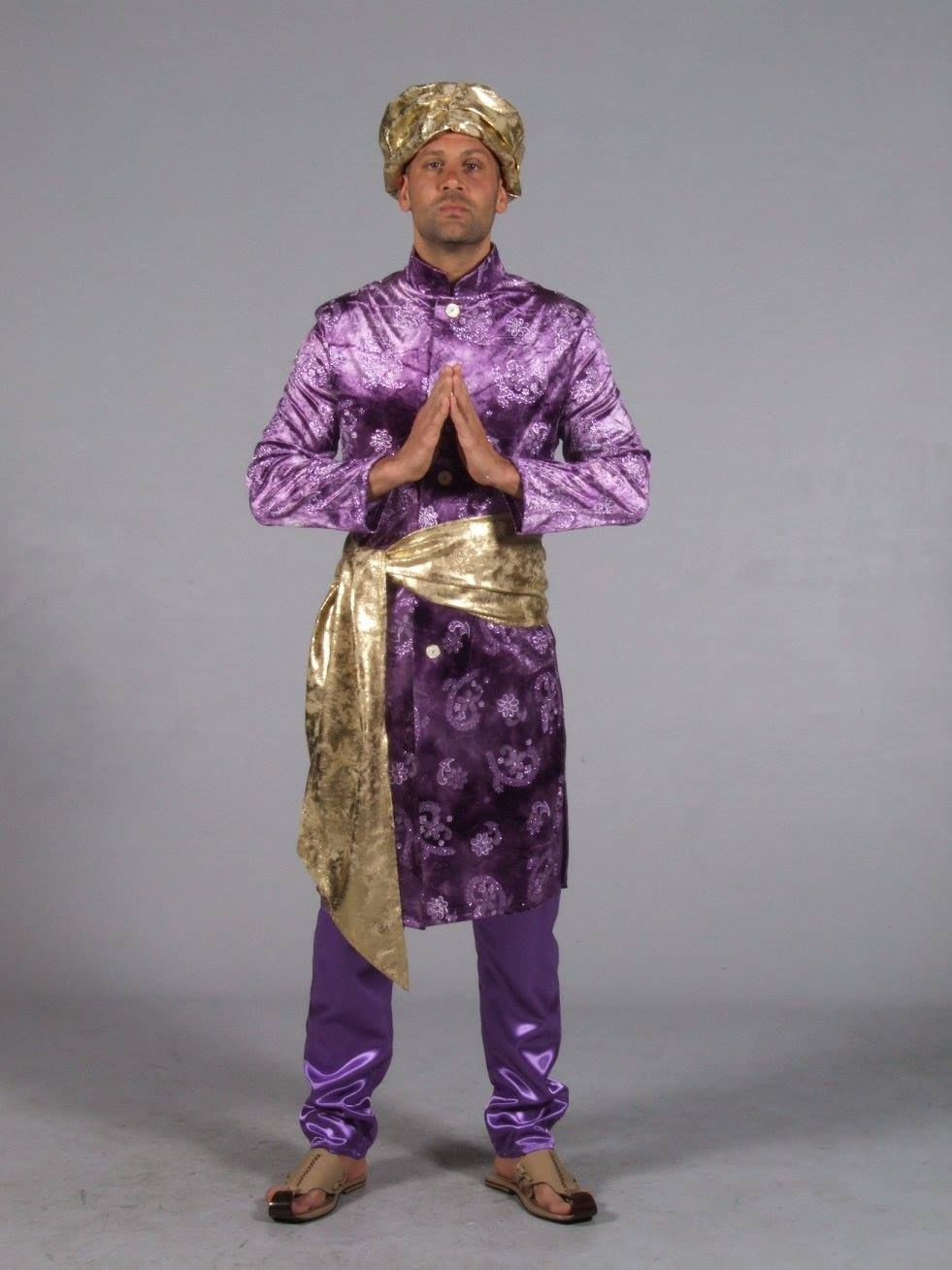 Purple Indian Man's Costume Arabian Nights