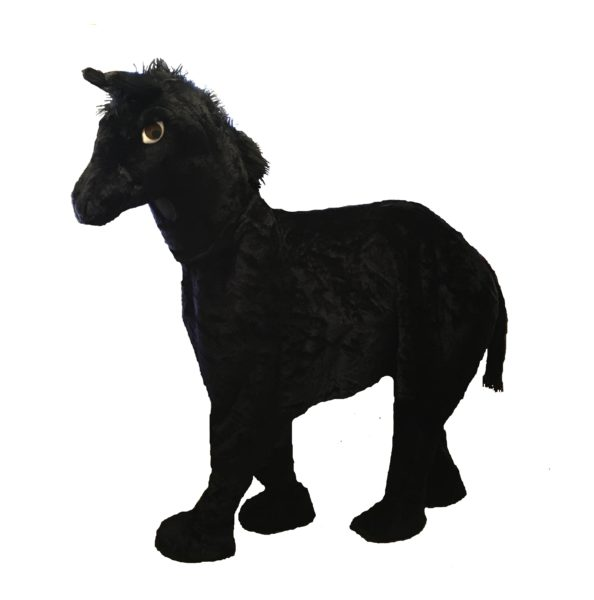Pantomime 2 Person Horse Costume Black Stallion