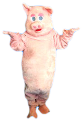 Deluxe Pink Adult Pig Costume Farm Animal