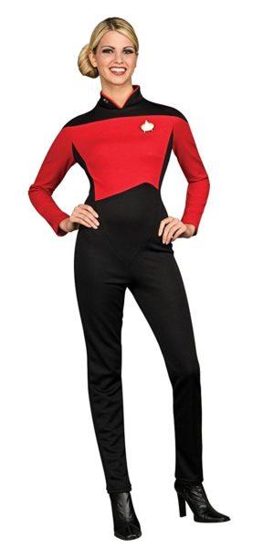 About our hire  sc 1 st  Mad Hatter Fancy Dress & Star Trek The Next Generation Ladies Jumpsuit TNG Uniform 12-14 -