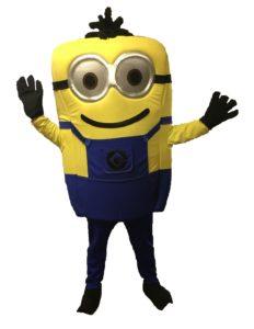 Yellow Mini man Mascot Fancy Dress