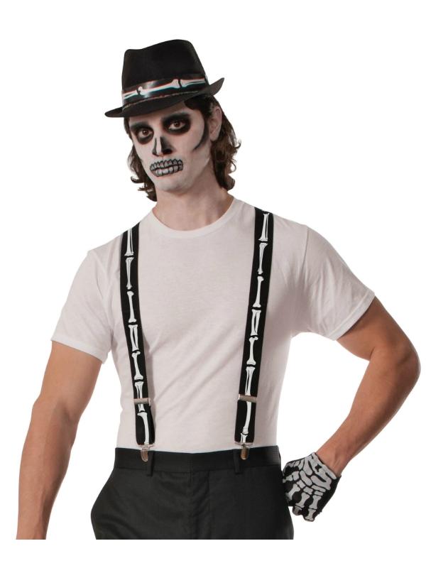 Halloween Skeleton Braces Fancy Dress Accessory