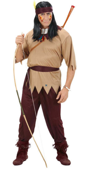 Native American Warrior Brave Man Indian Costume