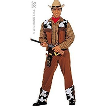 Wild West American Classic Cowboy Costume with checked shirt.