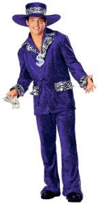Perfect Purple Pimp Suit with Zebra Trim 70s Costume!