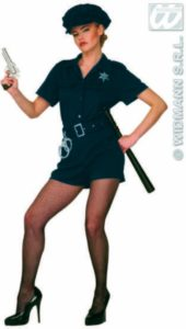 Adult Lady Sexy Cop Policewoman Costume 10 - 12