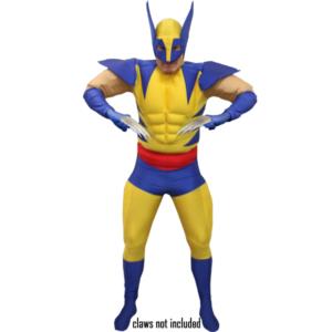 Adult Deluxe Wolverine Costume Superhero Fancy Dress