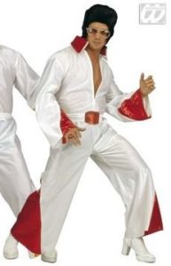 Red and White ELVIS costume. The King of Rock and Roll fancy dress!