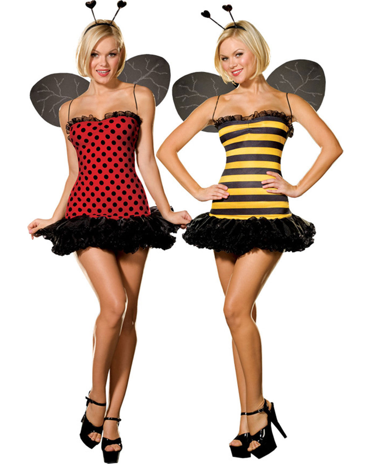 Sexy Ladybird and Bumble Bee Dress! 2 Costumes in 1!