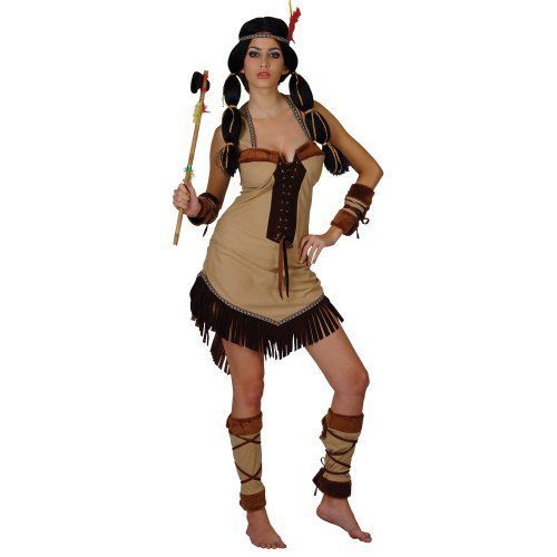 Womens Indian Costume with fringing! Native American Fancy Dress.