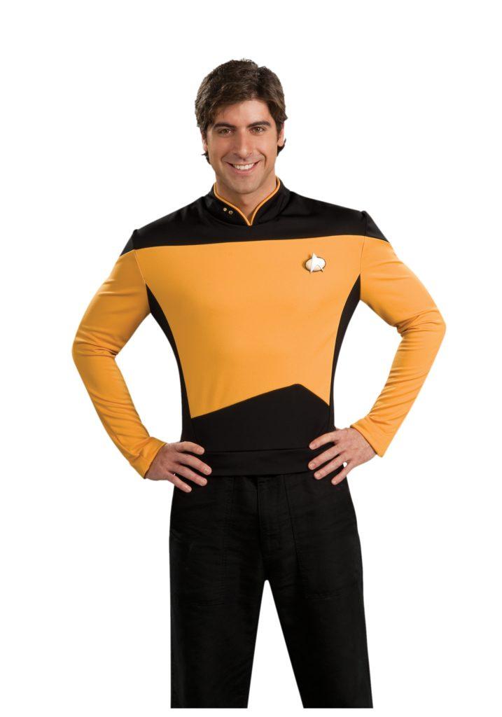 "Star Trek The Next Generation Mens Gold TNG Uniform 42-44"""