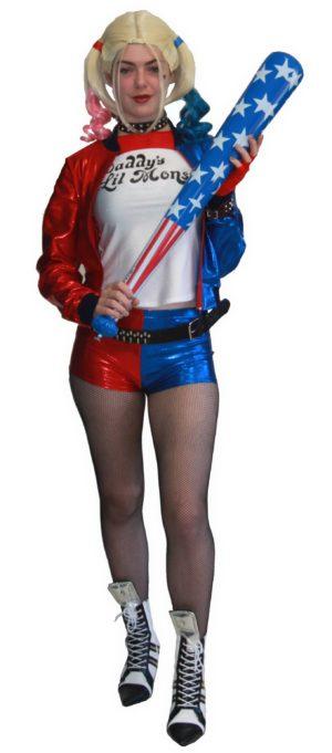 Adult Suicide Squad Harley Quinn Costume Batman