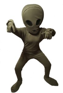 Adult Alien Fancy Dress Space Costume Extra-Terrestrial