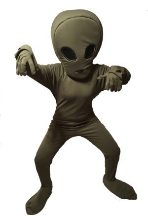 Adult Alien Fancy Dress Space Costume Extra-Terrestrial