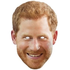 Adult's Royal Family Prince Harry Card Mask on Elastic