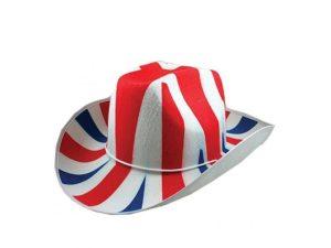 Union Jack Cowboy Hat Fabric- Union Jack Wear