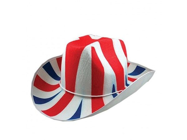 Union Jack Cowboy Hat Fabric- Union Jack Wear