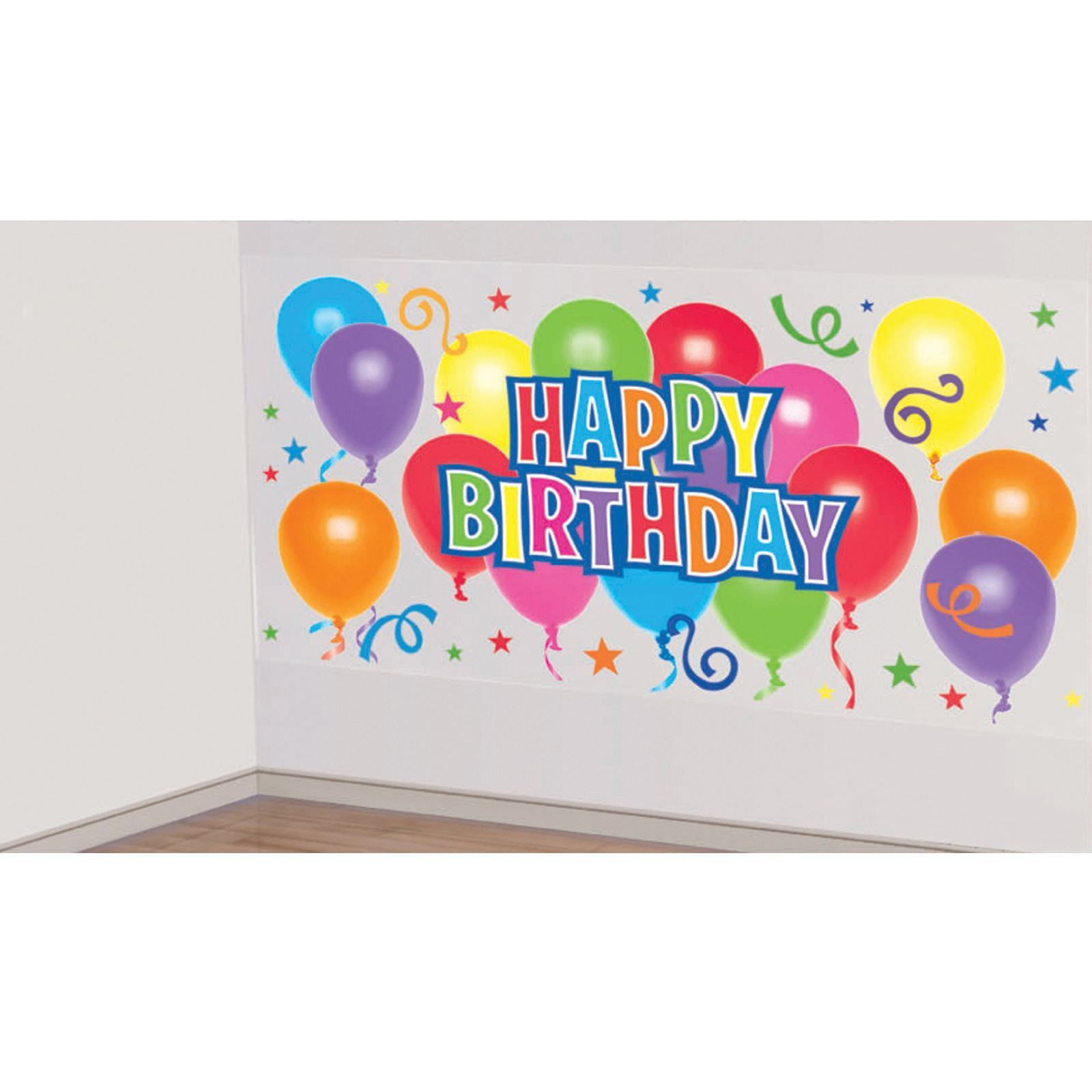 5.4ft Happy Birthday Scene Setter Party Back Drop