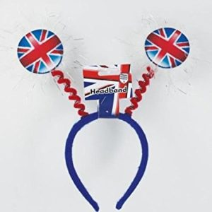 Great British Union Jack Adult Round Head Boppers