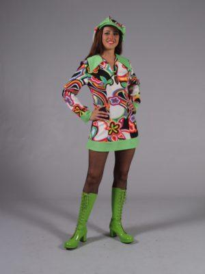 Flower Power Psychedelic Swinging 60s Fancy Dress Costume 12 - 14