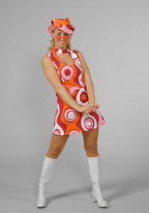 Psychedelic Swinging London Lady's Mini 60s Dress Costume 16 - 18